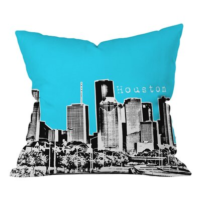 Bird Ave Houston Throw Pillow Color: Sky, Size: 18 x 18