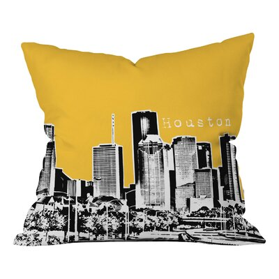 Bird Ave Houston Throw Pillow Size: 16 x 16, Color: Yellow