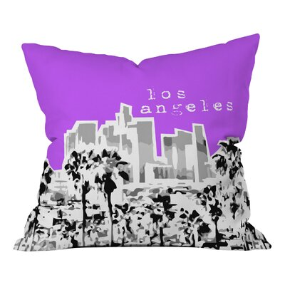 Bird Ave Los Angeles Throw Pillow Size: 16 x 16, Color: Purple