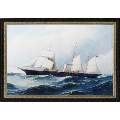 Steam Yacht Framed Print AVM39140