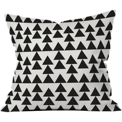 Triangles Outdoor Throw Pillow Size: 16 H x 16 W x 5 D