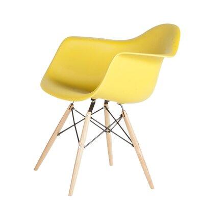 Wood Eiffel Armchair Upholstery: Dark Olive