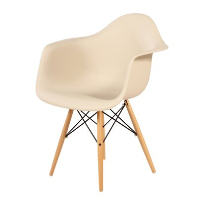 Wood Eiffel Armchair Upholstery: Beige