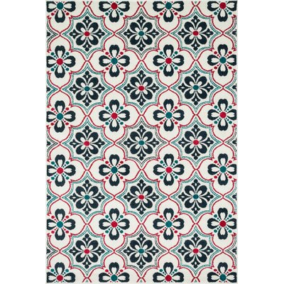 Winifred Blue/Red Indoor/Outdoor Area Rug Rug Size: Rectangle 311 x 510