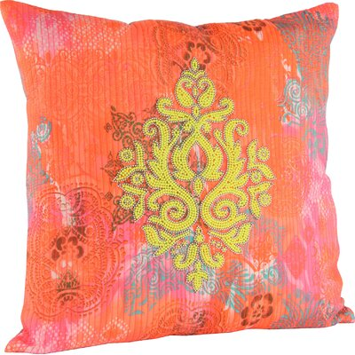 Julia Throw Pillow Color: Orange/Yellow