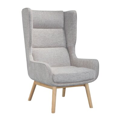 Cristy Wing Back Chair Upholstery: Gray