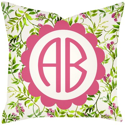 Personalized Floral Wisteria Throw Pillow