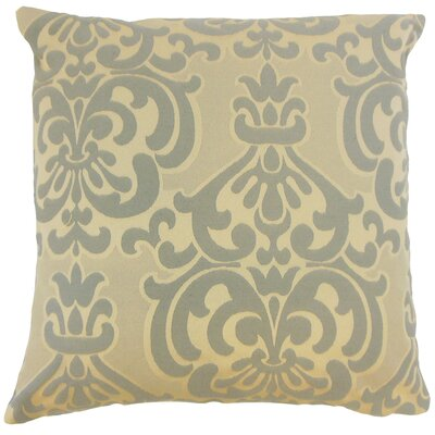 Sarane Damask Throw Pillow Cover Size: 20 x 20, Color: Truffle