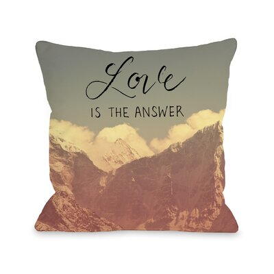 Love is the Answer Throw Pillow Size: 18 x 18