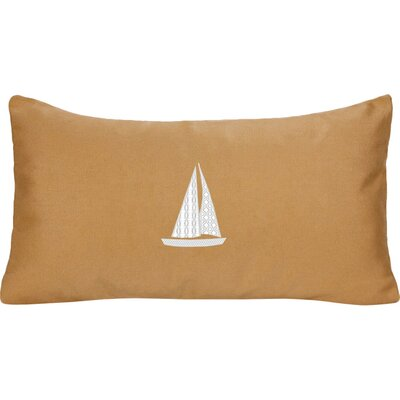 Sailboat Indoor/Outdoor Sunbrella Lumbar Pillow