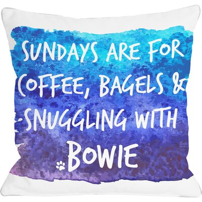 Personalized Sundays Are for Snuggling Throw Pillow