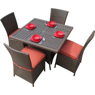 Salinas 5-Piece Dining Set with Cushions