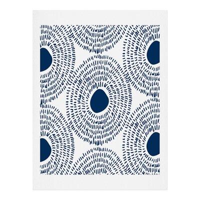 'Circles in Blue' Graphic Art Print 51722-artpr1