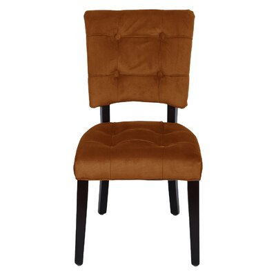 Parsons Solid Wood Chair Upholstery: Amber