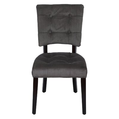 Side Solid Wood Chair Upholstery: Gray
