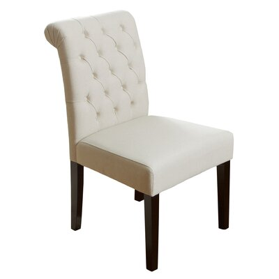 Cullon Tufted Side Chair Upholstery: Ivory