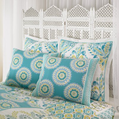 Azure Sky Pillow Sham Size: King