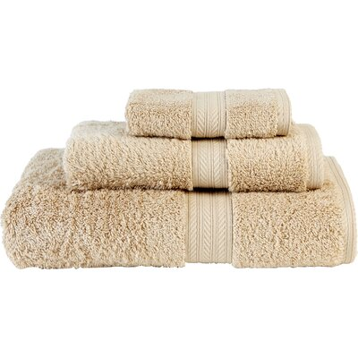 Egyptian Quality Cotton 3 Piece Towel Set Color: Drifwood