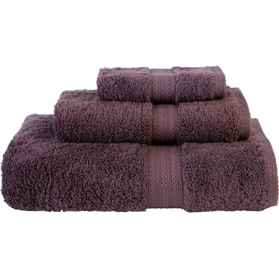 Egyptian Quality Cotton 3 Piece Towel Set Color: Fig
