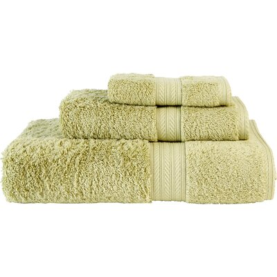 Egyptian Quality Cotton 3 Piece Towel Set Color: Green Fern