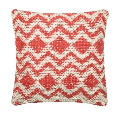 Cotton Throw Pillow Color: Coral/Gray