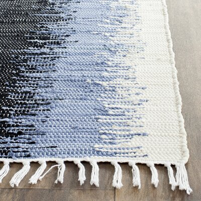 Ona Hand-Woven Cotton Area Rug Rug Size: Rectangle 26 x 4