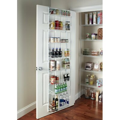 8-Tier Adjustable Cabinet Door Organizer Size: 18'' W