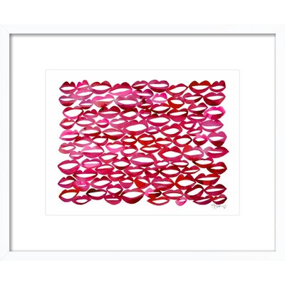 Juicy Lips Framed Giclee, Artfully Walls
