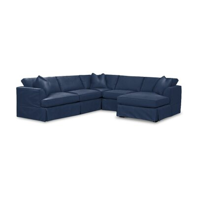 Kessler Custom Sectional Upholstery: Ranger Blue