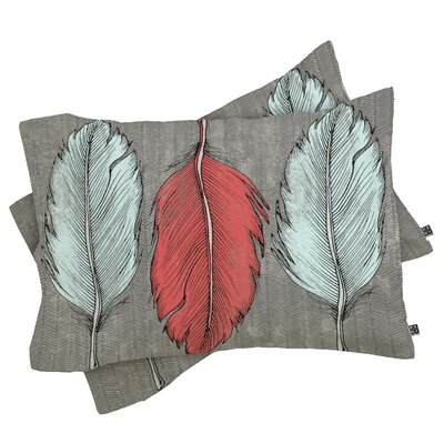 Wesley Bird Feathered Pillow Case