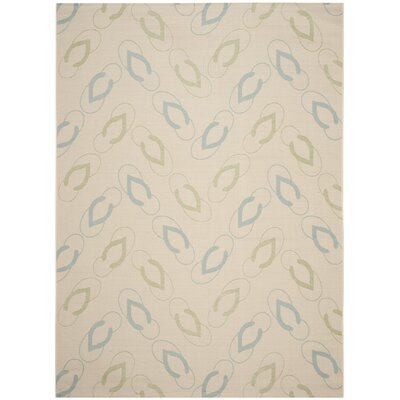 Lake Park Beige/Aqua Indoor/Outdoor Area Rug Rug Size: Rectangle 8 x 11