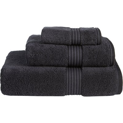 Supima Cotton 3 Piece Towel Set Color: Black