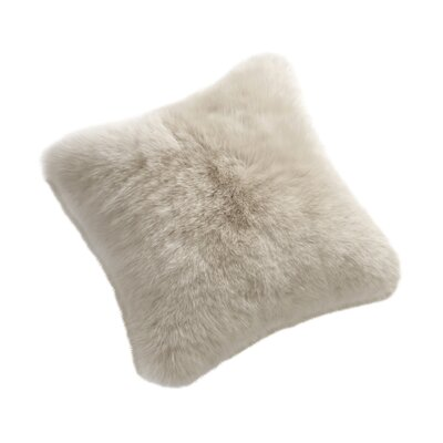 Throw Pillow Color: Linen, Size: 32 H x 32 W x 6 D