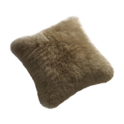 Wulfeck Throw Pillow Size: 14 H x 14 W x 5 D, Color: Taupe