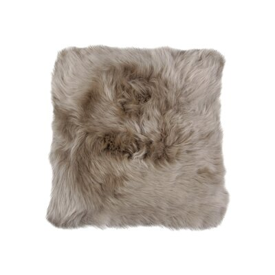 Wulfeck Throw Pillow Size: 14 H x 14 W x 5 D, Color: Vole
