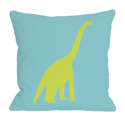 Apatosaurus Polka Dots Throw Pillow Size: 18