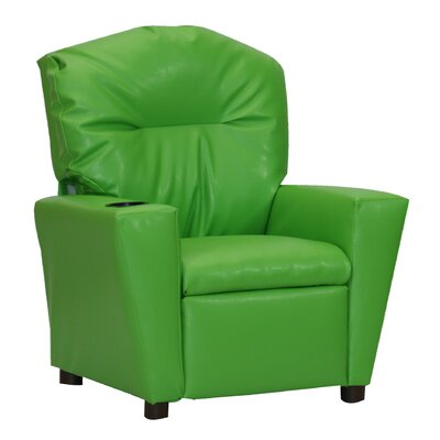 Rubino Kids Recliner with Cup Holder Color: Green HBEE7509 42659111