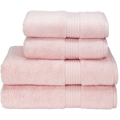 Cotton 3 Piece Towel Set Color: Pink