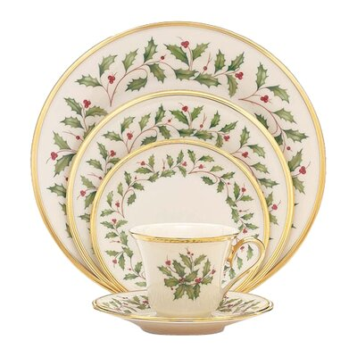 Holiday Bone China 5 Piece Place Setting, Service for 1 146590600