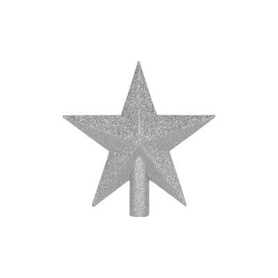 "9"" Tree Topper Star Color: Silver"