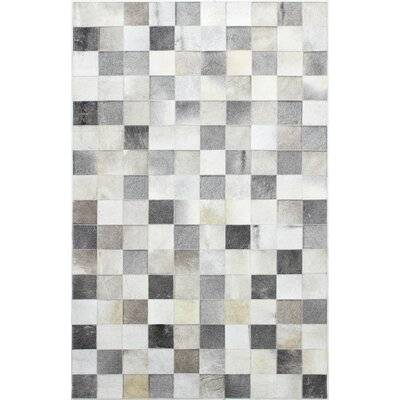 Jonathan Hand Stitched Gray Area Rug Rug Size: 8 x 10