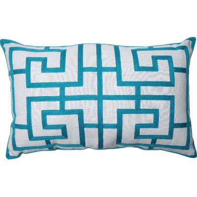 Adrian Embroidered Lumbar Pillow Color: Blue