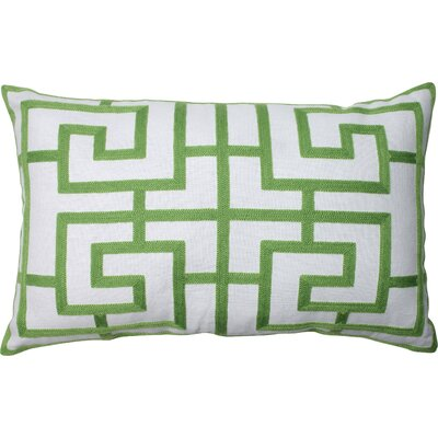 Adrian Embroidered Pillow in Green