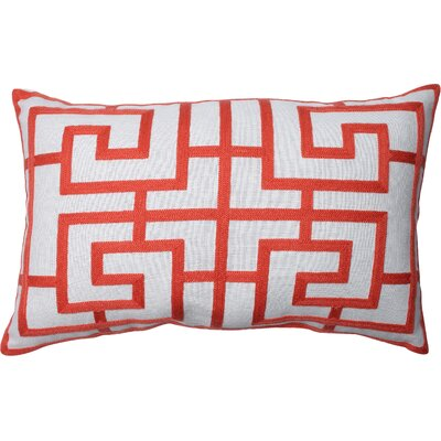 Adrian Embroidered Lumbar Pillow Color: Pink