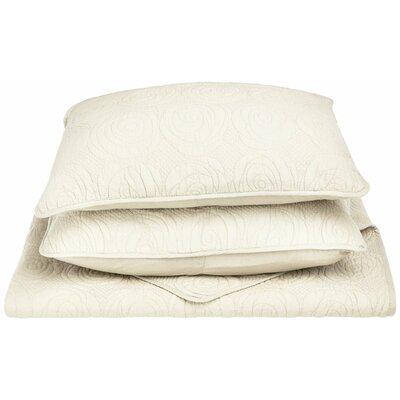 Channing Reversible Quilt Set Size: Full/Queen, Color: Ivory