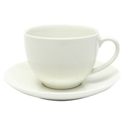 Maxwell & Williams White Basics 7 Oz. Cup and Saucer (Set of 6) P0050
