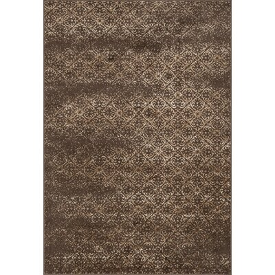 Elton Brown Area Rug Rug Size: 52 x 77
