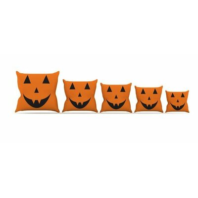 Pumpkin Treat Throw Pillow Size: 16 H x 16 W x 3 D
