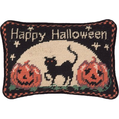 Happy Halloween Cat Wool Lumbar Pillow