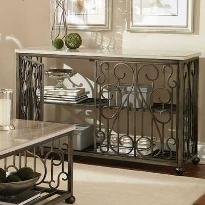 Console Table with Magazine Rack